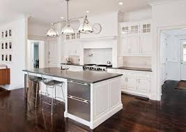 Floor Modern White Kitchens With Dark Wood Floors Wood With Modern