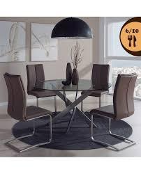 Table De Cuisine En Verre Ronde Design Mooviin Conforama Calder
