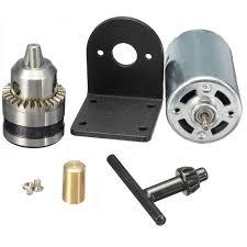 generic mini hand drill diy lathe press 555 motor w 1 8 chuck mounting bracket 5 12v