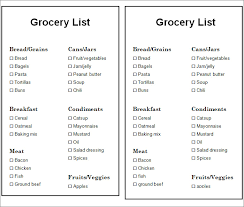 grocery checklist template grocery list template 7 free word pdf documents download free