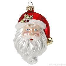 Christbaumschmuck Weihnachtsmann Kopf 9 5cm Glas