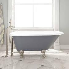 clawfoot tub bathroom ideas. Grey Extra Large Clawfoot Tub With Elegant Marble White Floor Tiles For Bathroom Ideas F