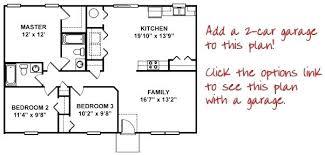 3 Bedroom Open Floor House Plans New Inspiration Design