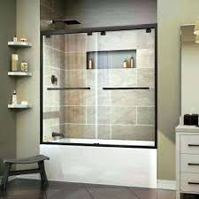 sliding shower doors for tubs framed bypass tub door glass enclosures vancouver bathtub sh
