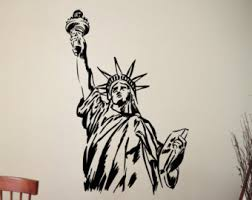 liberty bedroom wall mural: statue of liberty wall sticker lady liberty decal home interior design living room decor bedroom wall art murals removable stickers usz