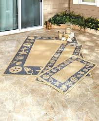 beach house area rugs details about in or outdoor beach house rug blue seashell sand dollar