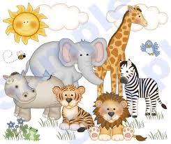 baby zoo animals nursery. Perfect Nursery Jungle Zoo Animals Wall Art Mural Baby Girl Boy Nursery  Small For D