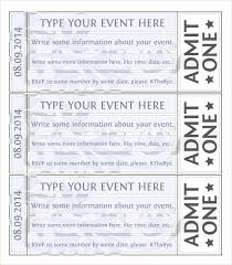 ticket sample template free 38 sample amazing event ticket templates in