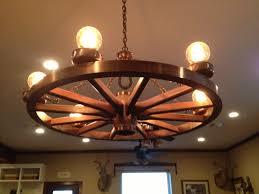 image of wagon wheel chandelier lighting
