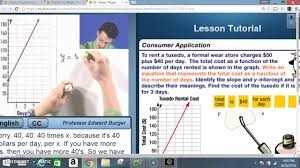 pre alg 5 1 writing linear equations from situations and graphs