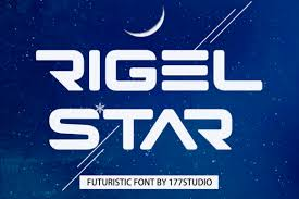 Also you can download font only with. Rigel Star Font Free Download Freedownloadae