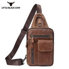 small capacity mens casual cross bag phone purse pouch chest pack leather sling belt bags leisure shoulder messenger bag bags for women designer