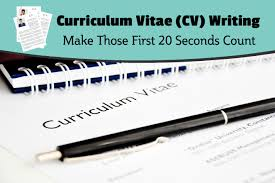 Curriculum Vitae Cv Writing Make Those First 20 Seconds Count