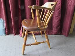 quality made maple captains chairs with vinyl seat cover mfg in sweden