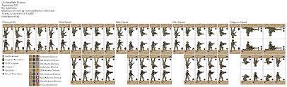 Us Army Platoon Us Army Rifle Platoon Paper Miniature
