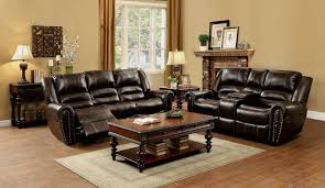 Leather Reclining Living Room Sets Amazoncom Homelegance 9668brw 3 Double Reclining Sofa Brown