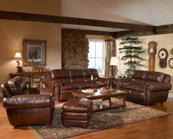 Living Room Colors With Brown Leather Furniture Warm Leather Living Room Set Contemporary Living Room Ideas