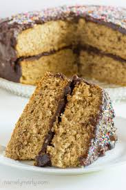 Easy Vegan Vanilla Wacky Cake With Chocolate Frosting Namely Marly
