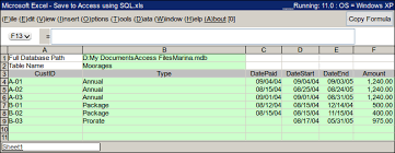 Export A Range Of Excel Data To A Database Expert Zone Cimaware