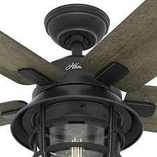 hunter fan 54 weathered zinc outdoor ceiling fan