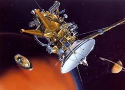 bbc science nature horizon image nasa jpl caltech the huygens probe separating from the cassini spacecraft