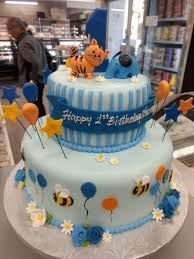 Two Tier Birthday Cake With Bees Elephant And Kitty Goodies Bakeshop