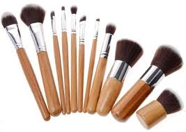 ebay wood makeup brush set