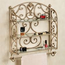 aldabella satin gold wall shelf towel bar touch to zoom