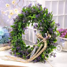 2019 artificial plant flowers wreaths garland wedding door wreath diy wall car decoration fake decorative plants flower c18111501 from mingjing03