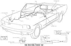 vintage mustang wiring diagrams 1966 mustang wiring diagram color 66 power convertible top details
