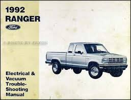 ford ranger and explorer foldout wiring diagram 1992 ford ranger electrical vacuum troubleshooting manual original