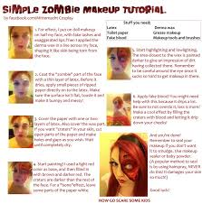 easy zombie makeup tutorial by mitternachto