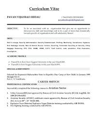 Security Resume Objective Examples Currulum Vitae Globalgmail Aviation Security Officer Resume