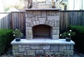 wood burning fireplace kit outdoor