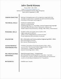 Plain Text Resume Template Plain Text Resume Templates Generator Awesome In Format Word