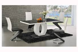 dining room ingenious white dining table with circle table leg and unusual dining chairs design