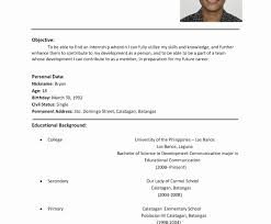 Free Easy To Use Resume Templates Basic Examples For Jobs Limited