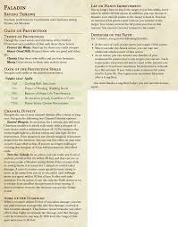 5e Paladin Archetypes Meh Morrus Unofficial