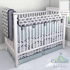 Carousel Designs Crib Rail Cover Carousel Designs Navy And Gray Elephants Crib Rail Cover