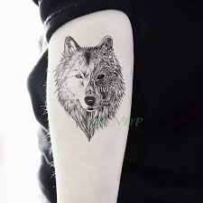 Vodotěsný Dočasné Tetování Nálepka Zvíře Vlk Lev Orel Tatto Flash