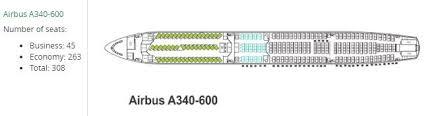 Mahan Air A340600 Seatmap Samchui Com