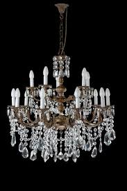 19th century crystal and gilt bronze 15 arm chandelier