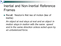 inertial and non inertial reference frames