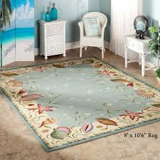 coastal themed area rugs ocean surprise seashell round lighthouse c rug tropical pattern sea creature with reef throw nautical runners