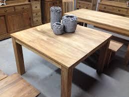 Eettafel Vierkant Met Blokpoten Vierkante Tafel 120 X 120