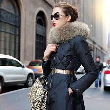 down jacket jacket parka black winter coat womens fur collar girls long rivet size s xl