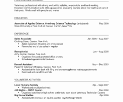 Veterinary Cover Letter Luxury Job Resume Vet Tech Resumes Free