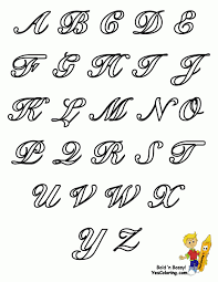 a z fancy letters drawing at getdrawings free for personal use with regard to cursive bubble letters