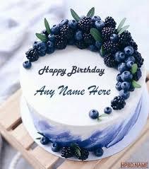 happy blueberry birthday cakes with