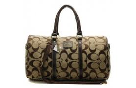 Coach Bleecker Monogram In Signature Large Khaki Luggage Bags AFJ